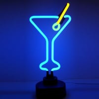 Cocktail Glass Destop Neon Skilt