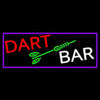 Dart Bar With Purple Border Neon Skilt